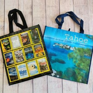 Lot of National Geographic & Lake Tahoe totes